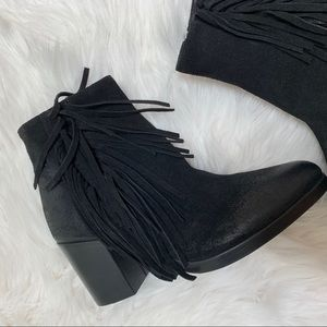Vince Camuto Hayzee Fringe Suede Ankle Boots